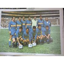 Poster Futbol México Chivas Selección Jalisco Original 1968