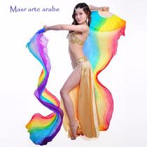 Abanicos / Danza Arabe De Seda Natural Importados De 150 Cm