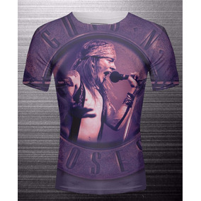Remera Sublimada Axl Rose Guns & Roses Ranwey Cs120/121/122
