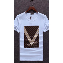 Camiseta Louis Vuitton Damier Masculino Lv M G Gg