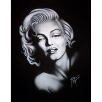 Playera Aerografia Marilyn Monroe Retrato Arte Pintura Cine