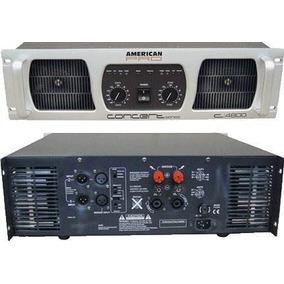 American Pro 4800 Concert Potencia Amplificador Audio