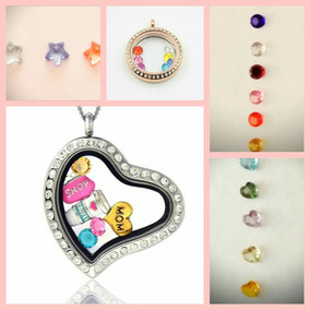 Charms/dijes, Perlas Y Zirconias/cristales Locket/relicario