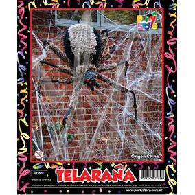 Telaraña Halloween Con Dos Arañas. X 50 Uni.precio Mayorista