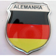 Escudo Cromado Alemanha  +brinde