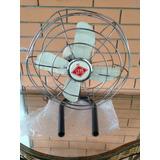Ventilador Antigo Faet 110w Metal Retro Branco Bege Peças