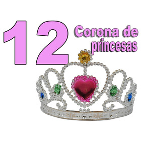 12 Tiara Corona De Princesas Mayoreo Niñas Boda Despedida Dj