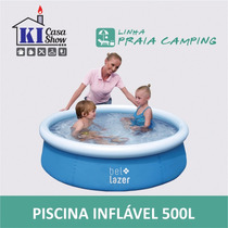 Piscina Inflável Infantil 500 Litros 158x38 Cm + Bomba Ar