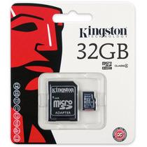 Cartão Memória Micro Sd 32gb, Leitor Usb Kingston