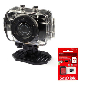 Camera Filmadora Veicular Automotiva Hd 720p + Sd 32gb + Car