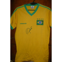 Brasil Remera Adidas Autografiada Pele