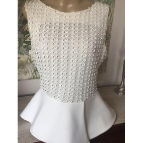 Blusa Zara Woman Off White