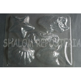 *molde Chocolate 5 Figuras De Mar Grandes Peces Moana Jabon
