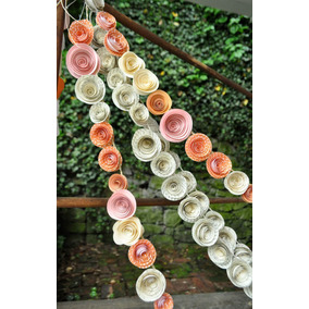 Guirnaldas De Flores De Papel X 10mts
