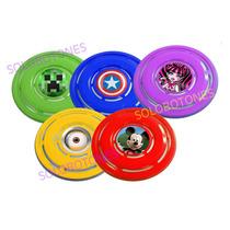 20 Frisbees Minions Vengadores Frozen Con Diseño 26cm
