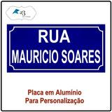 Placa De Rua Personalizada Com Seu Nome Em Alumínio