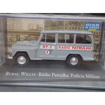 Miniatura Rural Willys Rádio Patrulha Polícia Militar
