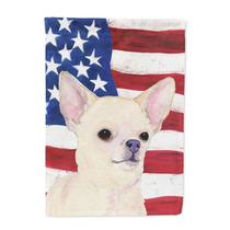 Usa La Bandera Americana Con Chihuahua Bandera Lienzo Tamañ