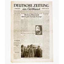 ++ Periódico Deutsche Zeitung Im Ostland, Original, Nazi