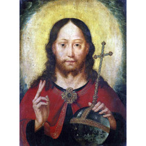 Lienzo Tela Cristo Dando La Bendición Arte Sacro 50 X 70 Cm