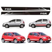 Kit Mod1 Adesivo Lateral Faixa Para Vw Fox