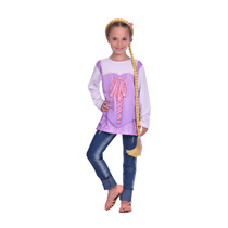Disfraz De Princesa Rapunzel Kit Remera Y Trenza Original