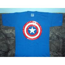 Playera Capitan America 10-12 Niño Spiderman Batman Superman