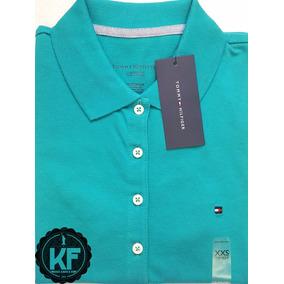 Camisa Polo Feminina Hering - Camisa Pólo Manga Curta Femininas Azul ... 5ded9ad3b510a