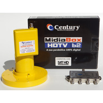 2 Receptor Midia Box B2+lnbf Multi Superdig Century+div1x4