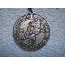 Antiguo Llavero Medalla Banco Holandes Unido Hbu San Pablo