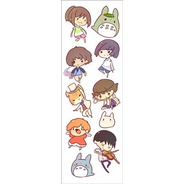 Plancha De Stickers De Anime De Studio Ghibli (1) Totoro