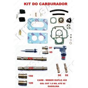 Kit Carburador Weber 460 Gol Mil 1.0 Cht Ate 92 Gasolina