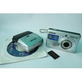 Câmera Digital Sony S730 De 7.2mp + Cartão 2gb + Carregador