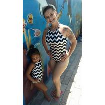 Body Maiô Estampado Infantil Tal Mãe Tal Filha Criança Moda