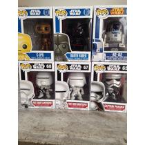 Funko Pop Star Wars Lote De 6 Pzas C-3po R2-d2 Darth
