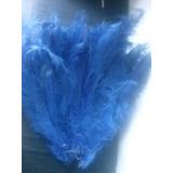 Pluma Espigão Azul Royal De 35 A 40 Cm