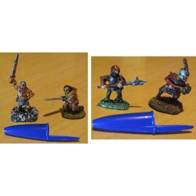 Lote C/ 23 Miniaturas Rpg Medieval De Chumbo