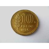 Argentina Moeda 10 Pesos Ano 1976 Serrilhada Soberba Coleção