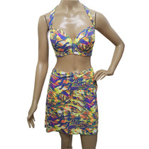 Biquini Plusize Est C/sunkini Embutido Na Sainha Tam50 52 54