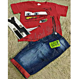 Conjunto Infantil Fantasia Carros Mc Queen