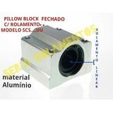Pillow Block 20mm Mod Scs20uu C/ Rolamento Linear Router Cnc