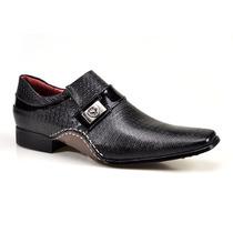Sapato Social Masculino Calvest Artesanal Couro C/ Textura