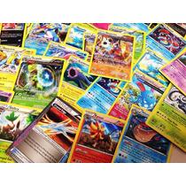Lote Pokemon Sol E Lua - 200 Cartas Com 5 Raros + 1 Brilhosa