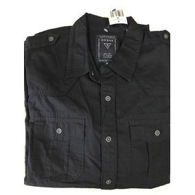 Camisa Guess Negra Manga Larga - Envio Incluido
