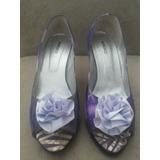 Sapato Marcucci Roxo/lilás Em Tecido