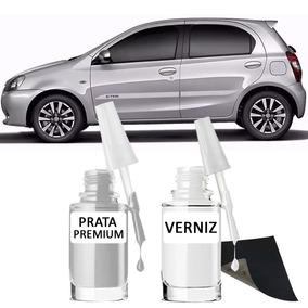 Tinta Tira Risco Automotivo Toyota Etios Cor Prata Premium*
