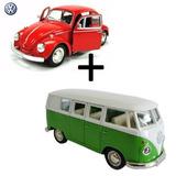 Miniatura Metal Origi Volkwagen Kombi 1962 + Fusca 1967 Ki17