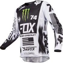 Jersey Fox 2017 Monster/procircuit Blanco Con Negro, Moto