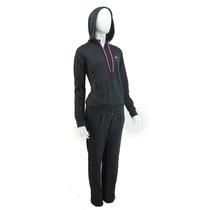 Conjunto Adidas Capucha Acetato Negro Mujer / Deporfan