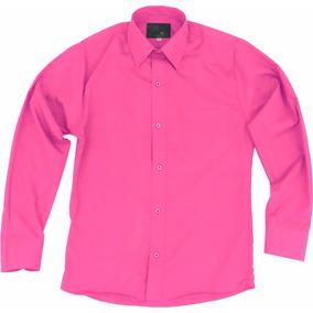 Camisa De Vestir Para Adulto Rosa Fiusha 34 A 42